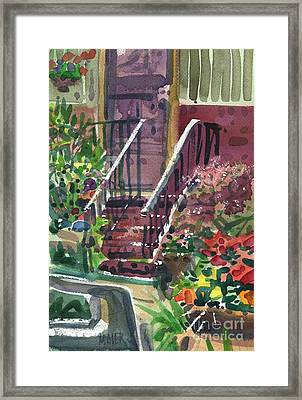 Front Steps Framed Print by Donald Maier