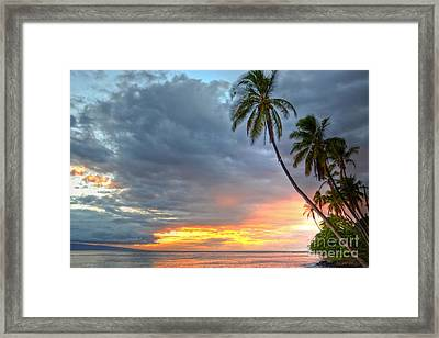 Front Street Sunset Framed Print by Kelly Wade
