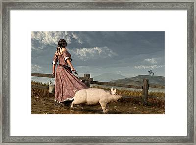 Frontier Widow Framed Print by Daniel Eskridge