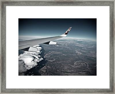 Frontiers Wing Framed Print