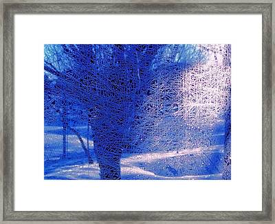 Framed Print featuring the photograph Frost Etching by Joan Hartenstein
