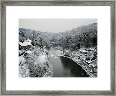 Frosted Trees At Ironbridge Framed Print