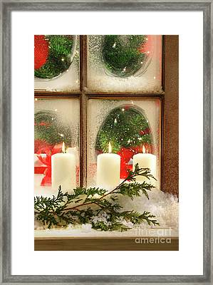 Frosted Window Framed Print