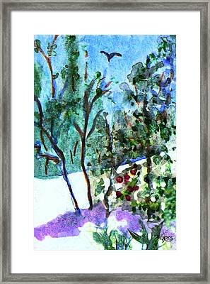 Framed Print featuring the painting Frosty Morning by Paula Ayers