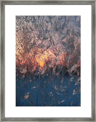 Frosty Sunrise Framed Print
