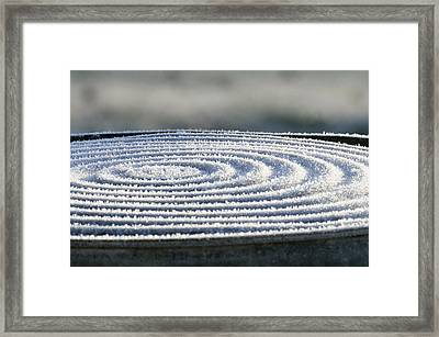 Frosty Swirls Framed Print
