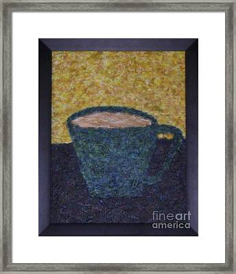 Frothy Goodness Framed Print