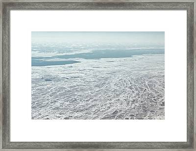Frozen And Ice Covered Gulf Of Finland Framed Print