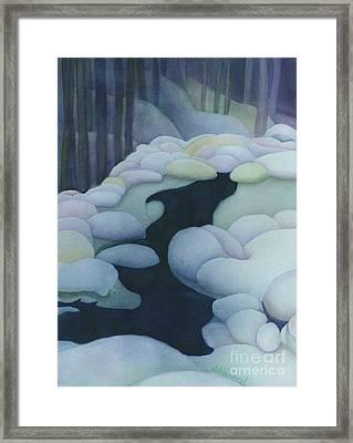 Frozen Brook Framed Print by Anne Havard