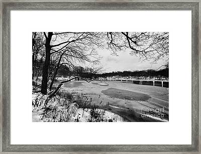 Frozen Central Park At Dusk Framed Print by John Farnan