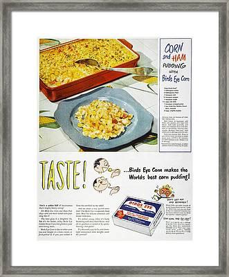 Frozen Food Ad, 1947 Framed Print by Granger