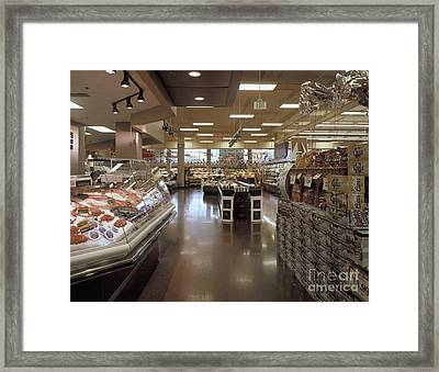 Frozen Food And Beer Aisle Framed Print