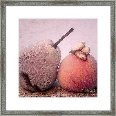 Frozen Fruits Framed Print by Bernard Jaubert