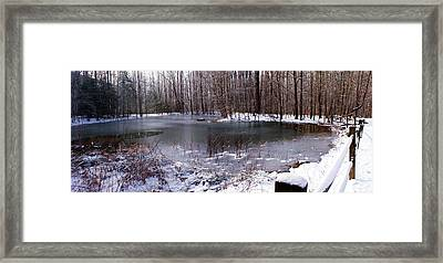 Framed Print featuring the photograph Frozen Head Pond by Paul Mashburn