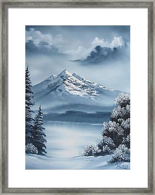 Frozen Mountain Framed Print by Kevin Hill