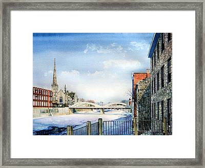 Frozen Shadows On The Grand Framed Print by Hanne Lore Koehler