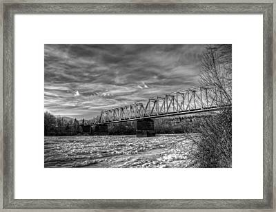Frozen Tracks Framed Print