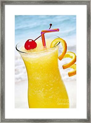 Frozen Tropical Orange Drink Framed Print
