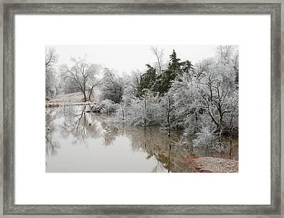 Frozen Tundra Framed Print by Jessica Jandayan