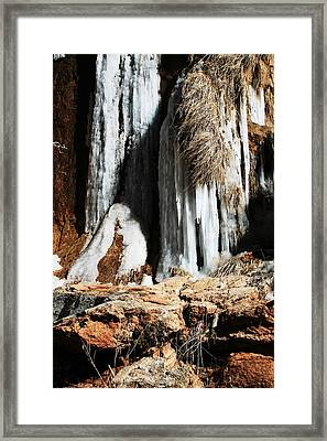 Frozen Waterfall Framed Print