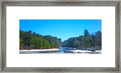 Frozen Wisconsin Framed Print by Sotiri Catemis