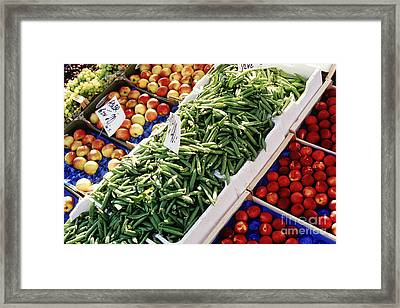 Fruit And Vegetable Stand Framed Print by Jeremy Woodhouse