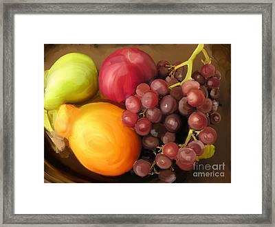 Fruit Aplenty Framed Print by Anne Ferguson