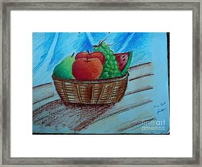 Fruit Basket Framed Print by Tanmay Singh