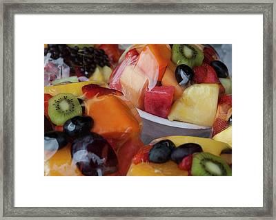 Fruit Cup Framed Print by Lorraine Devon Wilke