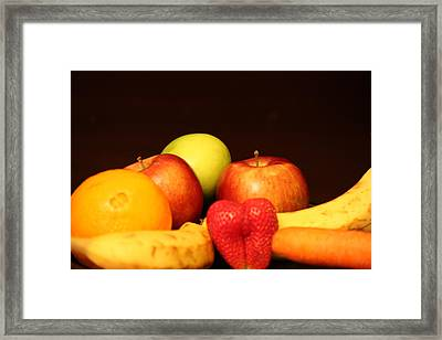 Fruit Dreams After Mid-night Framed Print by Andrea Nicosia