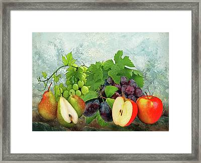 Fruit Garden Framed Print by Manfred Lutzius