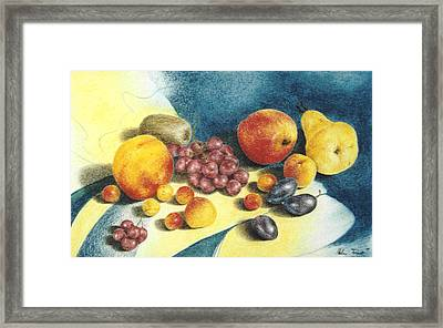 Fruit Framed Print by Helene Schmittgen