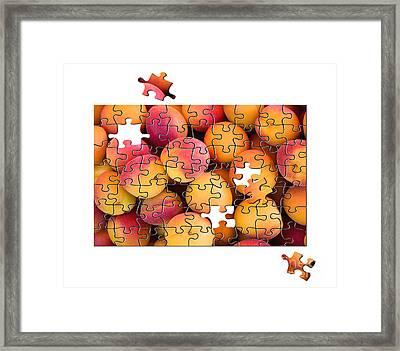 Fruit Jigsaw1 Framed Print