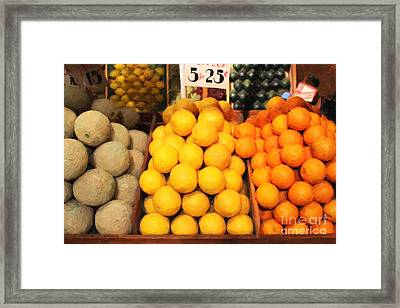 Fruit Market - Painterly - 7d17401 Framed Print by Wingsdomain Art and Photography