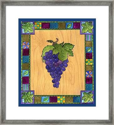 Fruit Of The Vine Framed Print by Pamela  Corwin