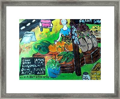 Fruit Shack Framed Print by Julie Butterworth