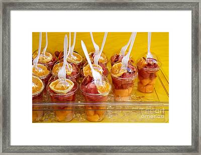 Fruit Snack Framed Print by Ed Rooney