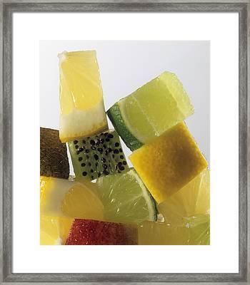 Fruit Squares Framed Print