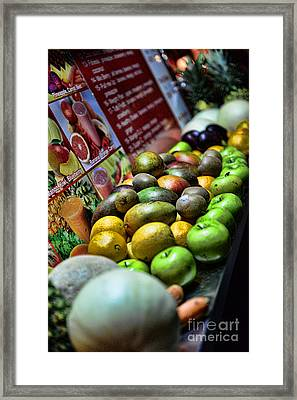 Fruit Stand Framed Print