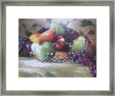 Fruit Still-life  Framed Print by Kay Novy