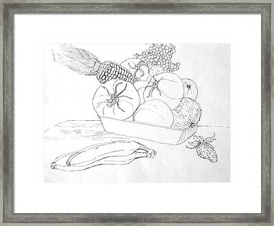 Fruits And Veggies Framed Print by Mike N