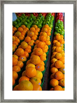 Fruits Framed Print by Mike Horvath
