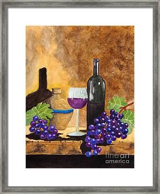 Fruits Of The Vine Framed Print by Kimberlee Weisker