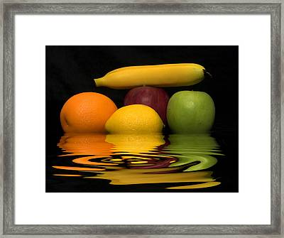 Fruity Reflections Framed Print by Cindy Haggerty