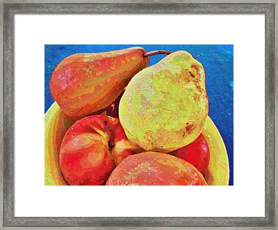 Framed Print featuring the digital art Frutbol by Ginny Schmidt