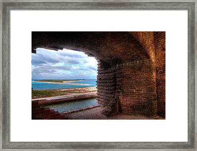 Ft. Jackson And Its Horizon Framed Print by Andres Leon