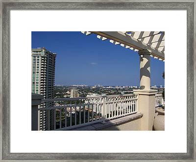 Framed Print featuring the photograph Ft. Lauderdale by Sheila Silverstein