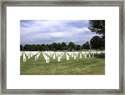 Ft Smith National Cemetery Framed Print by Leroy McLaughlin