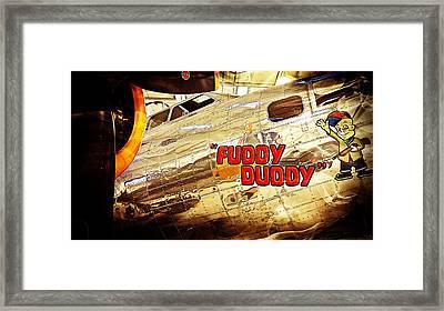 Fuddy Duddy Framed Print