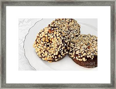 Fudge Nut Delights Framed Print by Andee Design